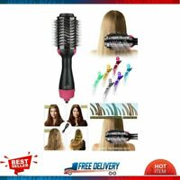 3 in 1 One Step Hair Dryer Styler Volumizer Hot Air Brush with 6 Colorful Clips
