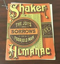 1885 Shaker Almanac Joys and Sorrows of a Poor Old Man Booklet