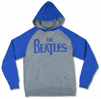 Beatles Blue Logo Grey and Blue Pullover Sweatshirt Hoodie New Official