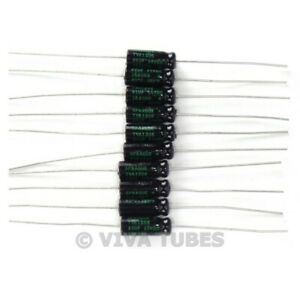 Lot of 10 New Sprague Atom 25uF 50V Electrolytic Capacitors 20% TVA-1306