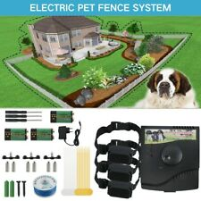 Waterproof Underground Electric Dog Fence System Shock Collars Safety For 3 Dogs