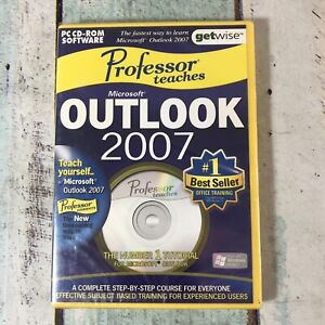Professor Teaches Outlook (PC, CD, 2007) New and Sealed