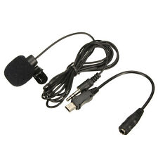 3.5mm External Microphone Mic Clip Lapel Tie With Mini USB Cable Adapter for GoP