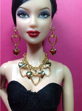 S761 Silkstone Barbie Fashion Royalty Doll Jewelry Hearts & Gold