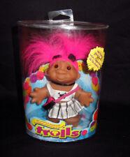 "2006 Troll Doll 5"" DAM Pink Hair Punk Rock Girl New Sealed Good Luck Original"