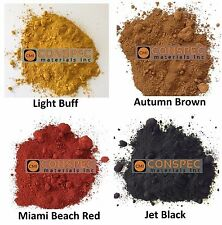 12 LBS Lot BROWN BUFF BLACK MIAMI RED Concrete Color Pigment Dye Cement Mortar