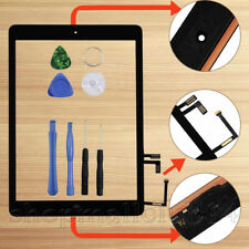 Für Apple iPad 5 Air 1Display Digitizer Glas Homebutton+Kleber+Werkzeug Schwarz