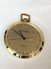 Pocket Watch N.O.S Very Elegant(Gq-6148H) Vintage Geneva Quartz Gold Tone