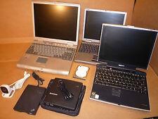 JOB LOT 3 LAPTOPS + parts Toshiba Portege P4000 Dell PP01S Advent 7002