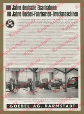 Goebel AG Darmstadt Fahrkarten Druckerei Maschinenbau Deutsche Reichsbahn 1935