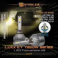 Stark 66W 5200LM Flip COB Chip LED Kit 3000K Yellow Light Bulbs Fog Lights - H1
