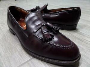 ALDEN Tassle Loafers 9.5 A / C Burgundy Leather 663 Dress Shoes