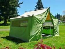 "Canvas Tent Coleman American Heritage 12' X 9' X 7' 9"" Tall Sleeps 6 Aluminum P"