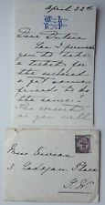 Queen Mary Of Teck Autograph Signed Letter King George V Consort Envelope Stamp