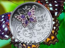 2017 BEJEWELED BUTTERFLY 1 oz. 99.99% SILVER PROOF COIN