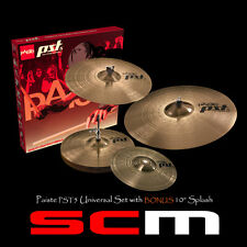 "PAISTE PST5 CYMBAL PACK BONUS 10"" Splash +14""/16""/20"" - 2 YR WARRANTY AUS DEALER"