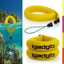 2 Yellow Floating Foam Wrist Strap for Waterproof Camera Go Pro Marine Binocular