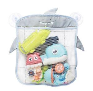 Baby Bath Toys Storage Bag Cute Duck Frog Lion Net Mesh Kids Holder Suction Cups