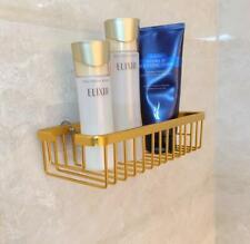 New Nail Free Bath Shower Caddy Basket Bathroom Shelf Gold Storage Space Alminum