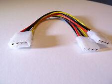 """NEU ! Equip®  20 cm Y-Strom-Kabel 2x 5,25"""" Molex 4pol PC intern Netzteil"""