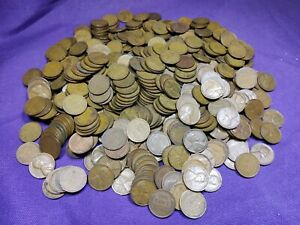 Lot of 500 Mixed Thirties Dates 1930 - 1939 Lincoln Wheat Cents Pennies!! Lot 2