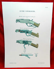 Henry-Winchester Color Cut-a-Way Diagrams Lithograph