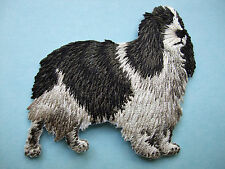 IRON-ON EMBROIDERED PATCH - ENGLISH SPRINGER SPANIEL - FULL BODY - DOG STANDING