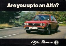 Alfa Romeo Test Drive Invitation 1980 UK Market Foldout Sales Brochure Alfasud
