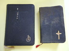 ANTIQUE LOT LEATHER PRAYER BOOKS 1900, 1927 CATHOLIC OLD RELIGIOUS FLOWERS PIETY