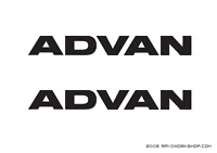 (2x) Advan Sticker Decal Die Cut Vinyl Yokohama JDM