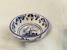 """Vintage Delft Blue Hand Painted """"Windmill� Small Bowl (3.5 by 1.5 inch)"""