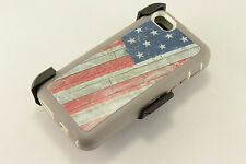 For iPhone 5C Defender Outer Series Case Screen Protector & Holster USA Flag