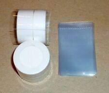 50 Clear SHRINK WRAP BANDS for lip balm (Carmex) jars tubs 0.25 oz