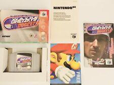 N64 Wayne Gretzky's 3D Hockey (Nintendo 64, 1996)  CIB