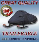 300 Denier Black Snowmobile Sled Cover fits Polaris 650 Indy XCR 128 2022
