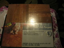 Bruce Solid Oak Parquet Flooring Chestnut ABC-1701 10 Square Feet NEW Old Stock