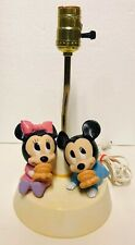 Vintage 1984 Mickey and Minnie Mouse Nursery Portable Lamp Night Lite