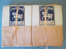 NOS NWT! SHEET & PILLOWCASE SET! Vintage SPRING KNIGHT brand: PASTEL PEACH exc!