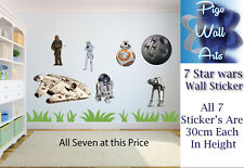 Star wars wall stickers 7 Children's Bedroom wall decal EACH 30CM IN HEIGHT.