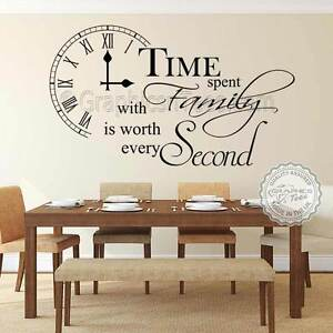 Time Spent With Family Wall Sticker Inspirational Quote Home Wall Art Decal