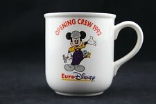 RARE mug EURO DISNEY opening crew 1992 retired ceramique mickey