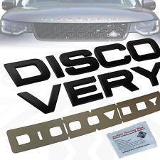 Matt Black Bonnet lettering for Land Rover DISCOVERY 5 front logo badge dynamic
