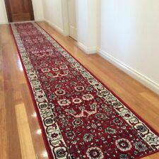 Red Runner, Rug, Traditional Pattern, (Width: 80cm) Assorted lengths**