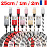 CABLE PARA IPHONE 7 6 5 8 PLUS IPOD DEL IPAD CARGADOR USB METAL REFORZADA 25CM