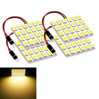 New 1x LED White Dome Map Interior Light Bulb 24 SMD Square Panel Xenon HID Lamp