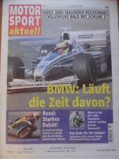 MOTOR SPORT aktuell 50 --- 7.-13.12. 1999 BMW F1 Rossi MZ-Weber Aaron Slight