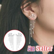 Tassel Earrings Star Jewelry Crystal Gift Women Rhinestone Long Drop Ear Dangle