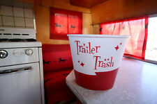 "Red ""Trailer Trash"" for Vintage Canned Ham Travel Trailers"