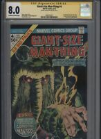 Giant-Size Man-Thing #4 CGC 8.0 SS Ron Wilson 1975 - 1st Howard the Duck solo