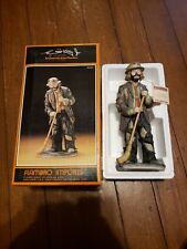Vintage Flambro 9745 In the Spotlight Emmett Kelly Jr. Clown Figurine Orig. Box